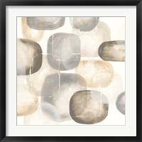 Neutral Stones III Framed Print