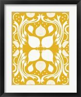 Retro Onion Otomi Silhouette Framed Print