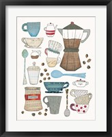 Coffee Chart I Framed Print