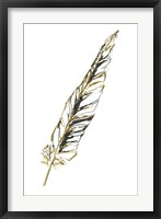Gilded Swan Feather II Framed Print