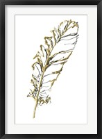 Gilded Turkey Feather I Framed Print