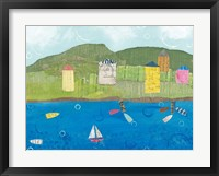 Coastal Harbor II Framed Print