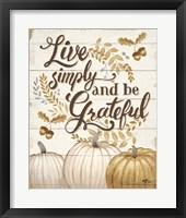 Grateful Season I Framed Print