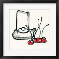 Tea and Cherries Framed Print