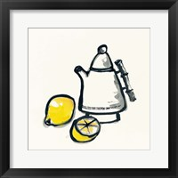 Tea and Lemons Framed Print