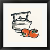 Tea and Persimmons Framed Print