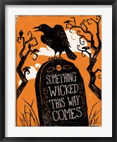 Wicked III Framed Print
