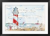 Coastal Life I Framed Print