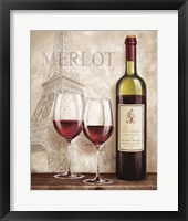Wine in Paris III Framed Print