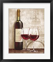 Framed Wine in Paris IV
