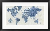 Framed Indigo Gild Map Maki