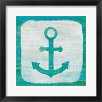 Framed Ahoy III Blue Green