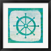 Framed Ahoy IV Blue Green