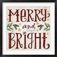 Framed Merry & Bright