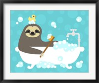 Framed Scrubbing Bubbles Sloth