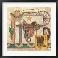 Western IV Framed Print