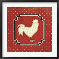 Framed Country Kitchen Rooster I