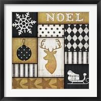 Framed Noel Deer