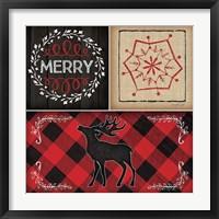 Framed Plaid Christmas III