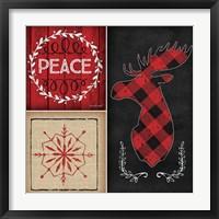 Framed Plaid Christmas IV