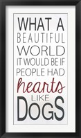 Framed Hearts Like Dogs