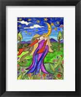 Framed Big Diva Angel And Moon