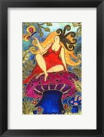 Framed Big Diva Fairy On Mushroom