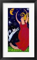 Framed Big Diva Moonlight Goddess Dancing