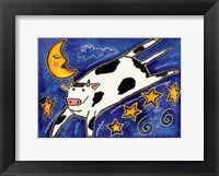 Framed Cow That Jumped Over The Moon