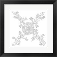 Framed 4 Celtic Lizards