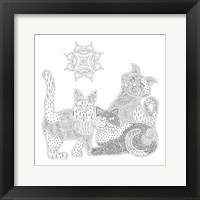 Framed Calico Cats