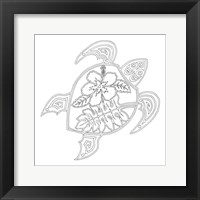 Framed Hawaiian Turtle
