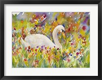 Framed Colorful Swan