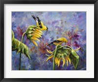 Framed Finches with Sunflowers