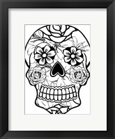 Framed Sugar Skull 8