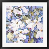 Framed Dogwoods, White