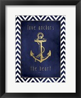 Framed Anchor & Gold