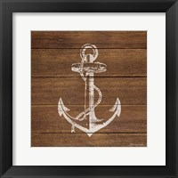 Framed Anchor On Wood