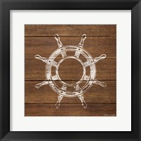 Framed Wheel On Wood