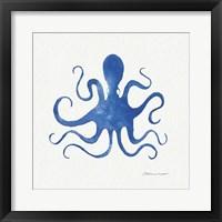Framed Octopus In Blue