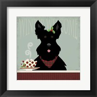 Framed Scottie Winter Welcome