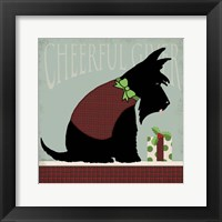 Framed Scottie Cheerful Giver