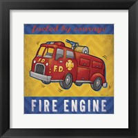 Framed Fire Engine