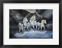 Framed Thundering Horses