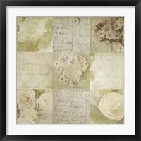 Framed Vintage Floral