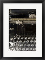 Framed Vintage Typewriter