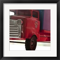Framed Red Truck