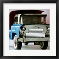 Framed Blue Truck