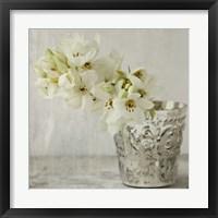 Framed Silver Vase