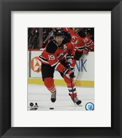 Framed Travis Zajac 2014-15 Action